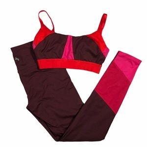 JOYLAB Colour block Leggings and sports bra